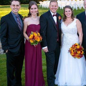 David's Bridal Dresses - Wine David's Bridal Bridesmaid Dress